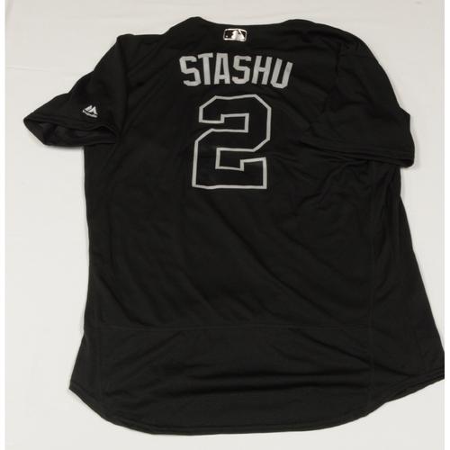 "Photo of Tom ""STASHU"" Murphy Seattle Mariners Game-Used 2019 Players' Weekend Jersey"