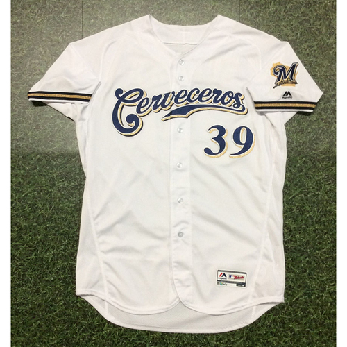 Corbin Burnes 2019 Game-Used Cerveceros Jersey