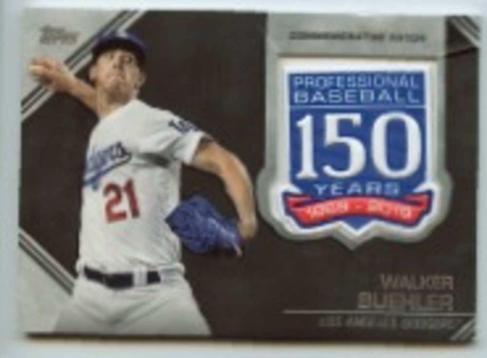 2019 Topps Update 150th Anniversary Manufactured Patches #AMPWB Walker Buehler