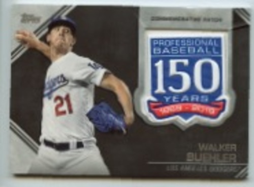 Photo of 2019 Topps Update 150th Anniversary Manufactured Patches #AMPWB Walker Buehler