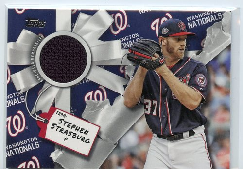Photo of 2019 Topps Walmart Holiday Relics #WHRSS Stephen Strasburg