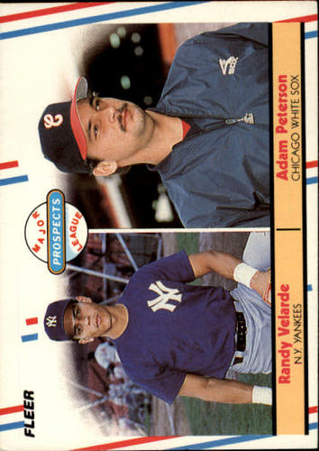 Photo of 1988 Fleer #646 Adam Peterson RC/Randy Velarde RC