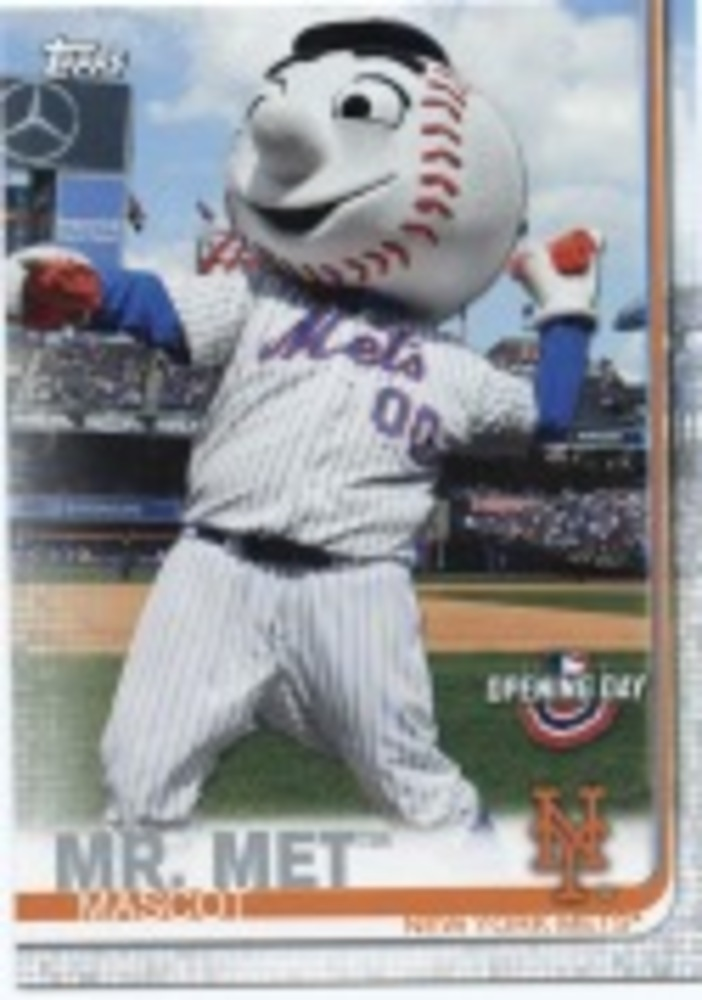 2019 Topps Opening Day Mascots #M20 Mr. Met