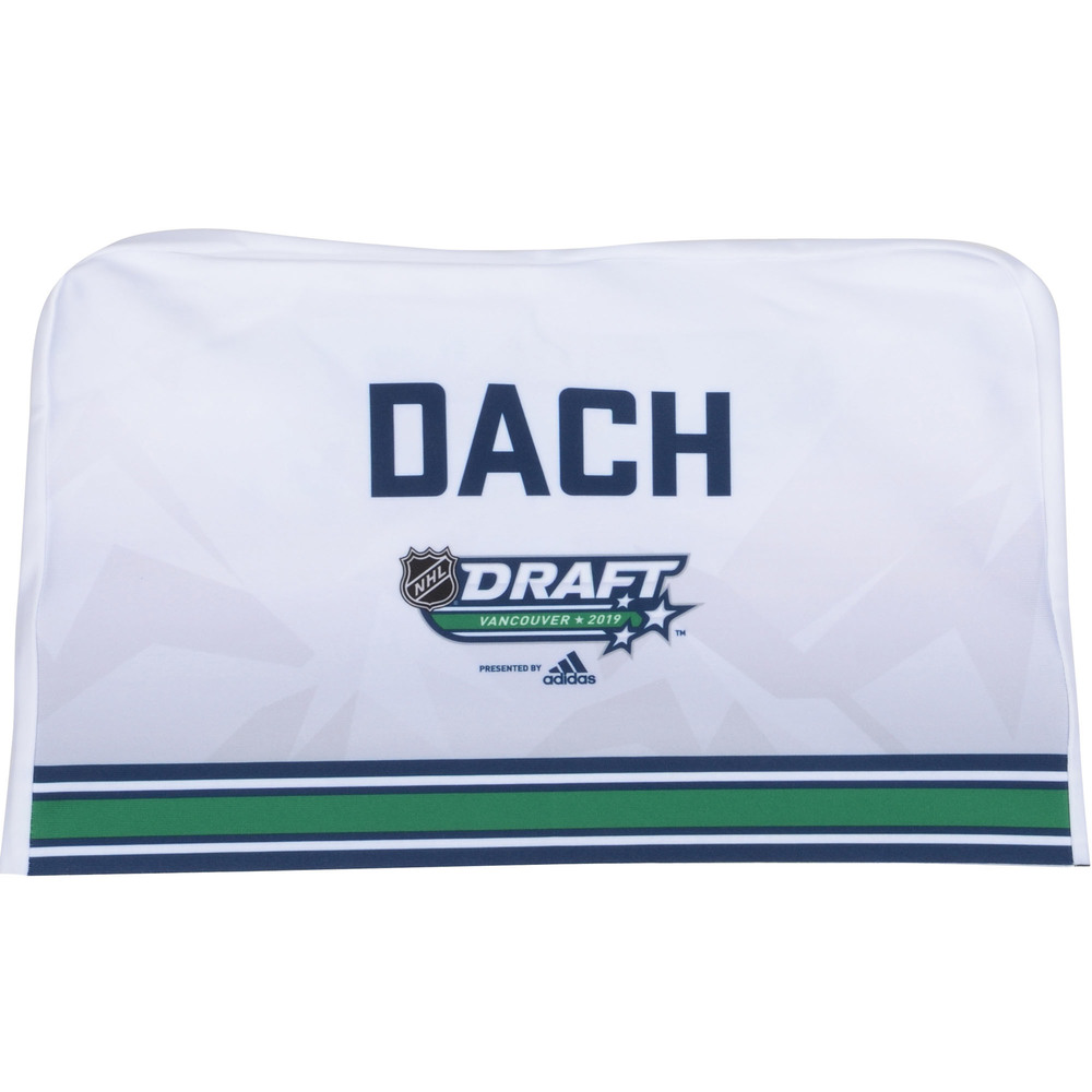 Kirby Dach Chicago Blackhawks Autographed 2019 NHL Draft Seat Cover - Second set (Not Used)