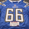 Chargers - Jeromey Clary Game Used Jersey Size 52