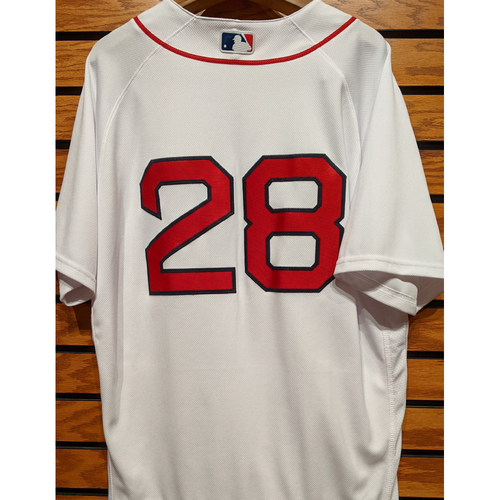 Photo of Robbie Ross Jr. #28 Team Issued Home White Jersey