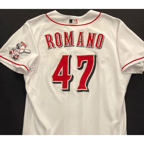 Photo of Sal Romano -- 2020 Home White Jersey -- Team Issued -- Size 48