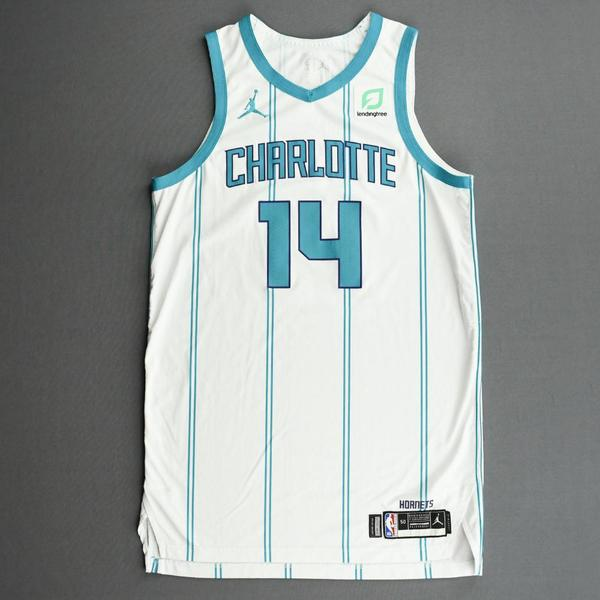 Image of Nick Richards - Charlotte Hornets - Kia NBA Tip-Off 2020 - Game-Worn Association Edition Jersey - Dressed, Did Not Play (DNP)