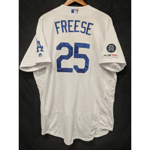 Photo of David Freese Game-Used Home Jersey, Last Home Game of 2019