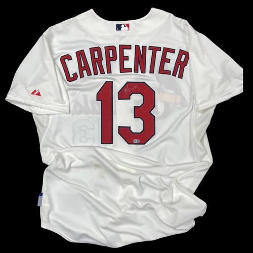 Photo of Matt Carpenter Autographed Replica Home Jersey (Size 46)