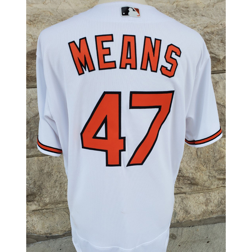 Photo of John Means: Jersey - Game Used (9/15/21 vs. Yankees)