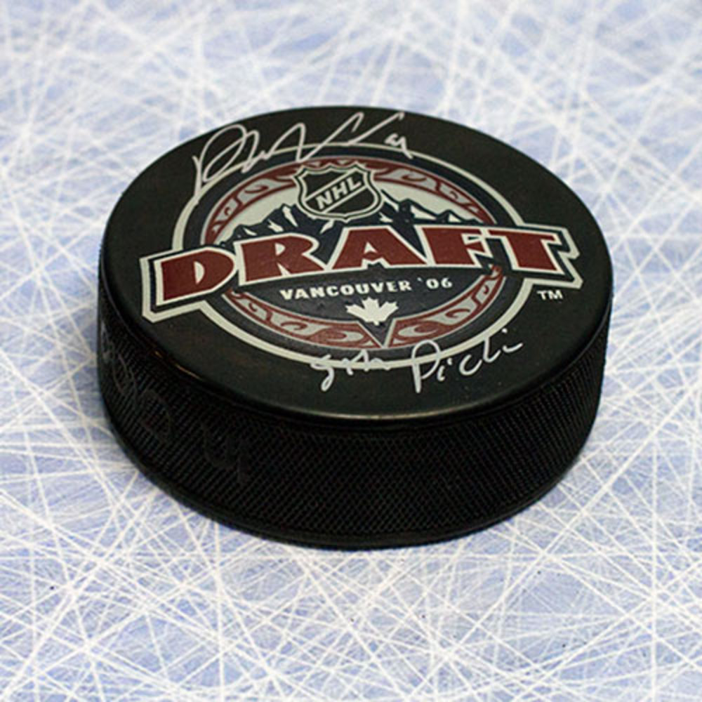 Phil Kessel 2006 NHL Draft Day Autographed Puck w/ 5th Pick Inscription