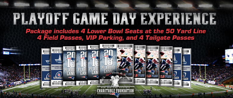 NEW ENGLAND PATRIOTS VIP PLAYOFF GAME DAY EXPERIENCE – SATURDAY, JANUARY 11TH