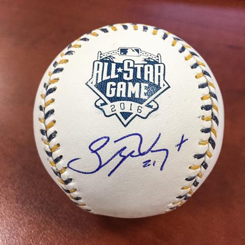 Stephen Vogt 2016 All-Star Game Autographed Baseball