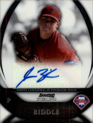 Photo of 2010 Bowman Sterling Prospect Autographs #JB Jesse Biddle RC AUTO