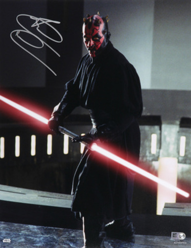 Ray Park as Darth Maul 11x14 Autographed in Silver Ink Photo