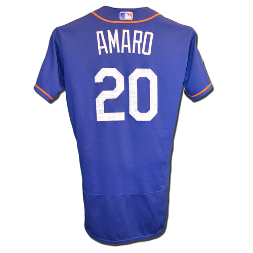 Photo of Ruben Amaro #20 - Game Used Spring Training Jersey - 2018 Spring Training