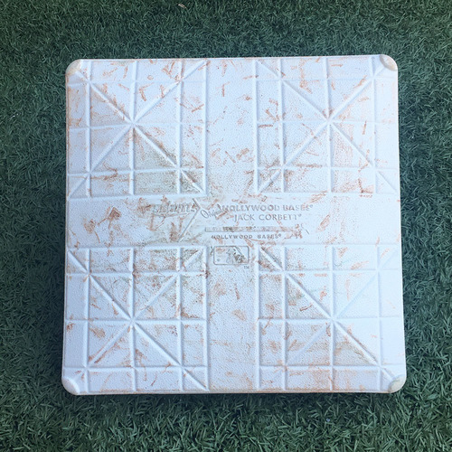 Photo of Game Used Base - Subway Series - 2nd Base, Innings 7-9 - Aaron Judge Hits HR - Mets vs. Yankees - 6/9/18