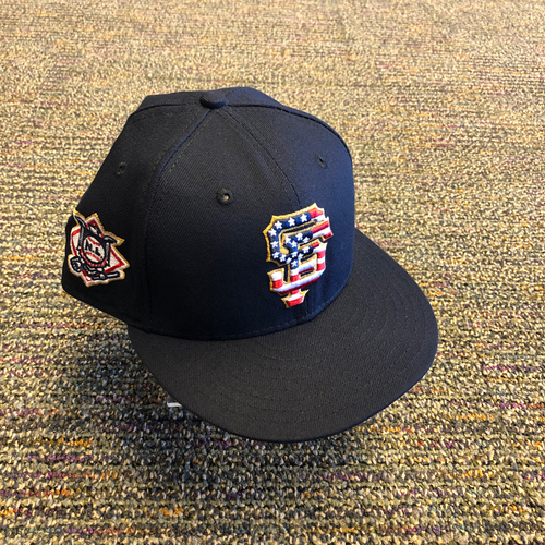 Photo of San Francisco Giants - 2018 Team Issued 4th of July Cap - #60 Hunter Strickland - Size 7 1/4