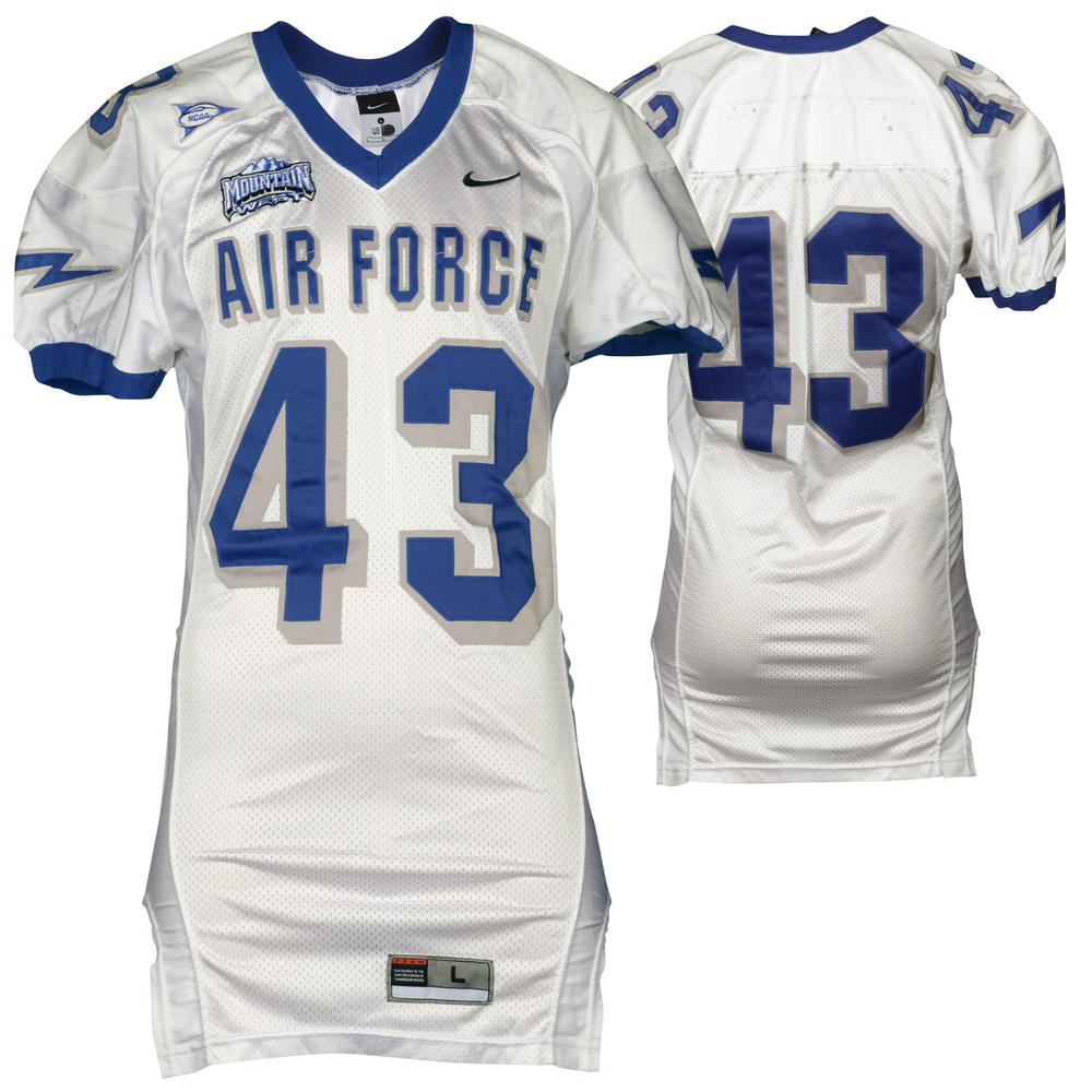 Air Force Falcons Game-Used #43 White Football Jersey with