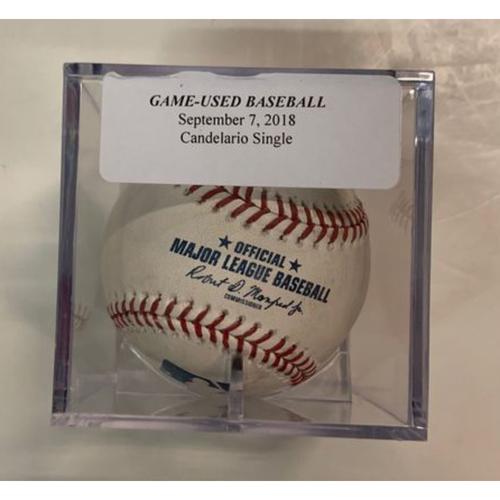 Game-Used Baseball: Jeimer Candelario Single