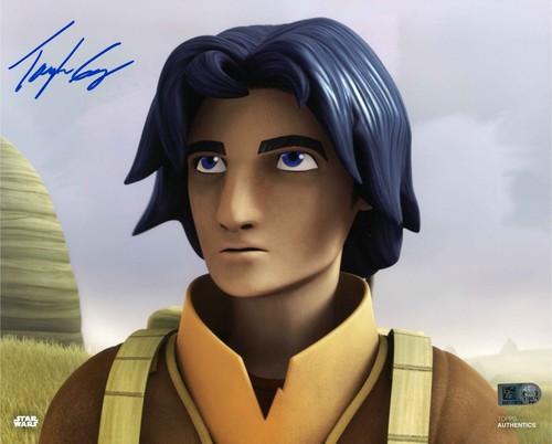 Taylor Gray As Ezra Bridger 8X10 Autographed in Blue Ink Photo