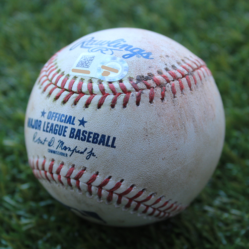 Photo of Game-Used Baseball: Eduardo Nunez 761st Career Hit (BOS @ KC - 6/6/19)