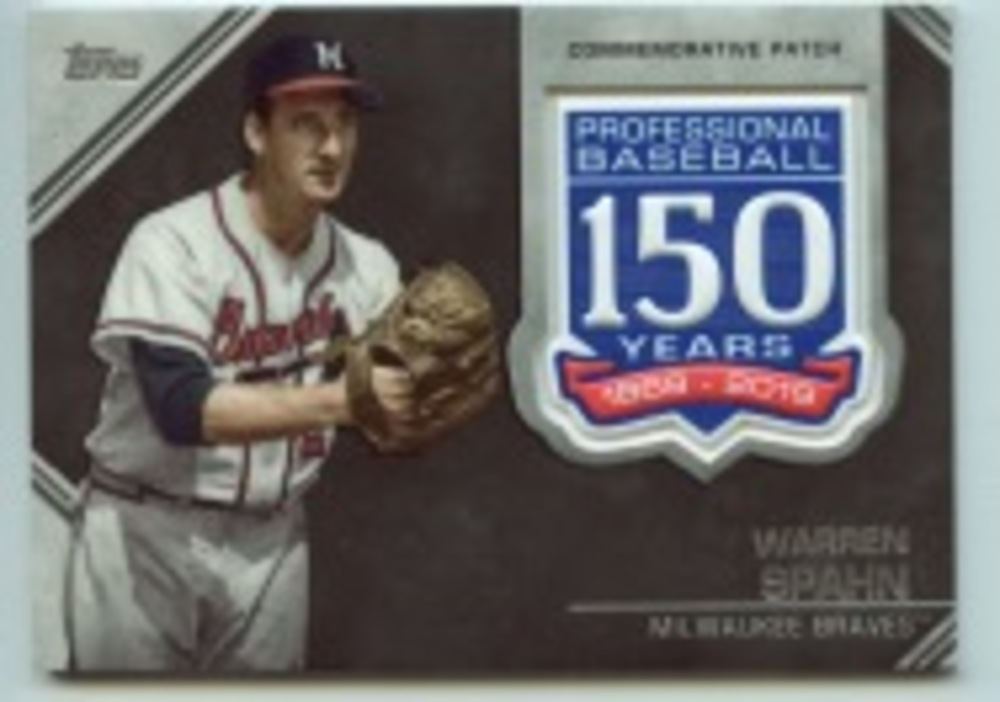 2019 Topps Update 150th Anniversary Manufactured Patches #AMPWS Warren Spahn