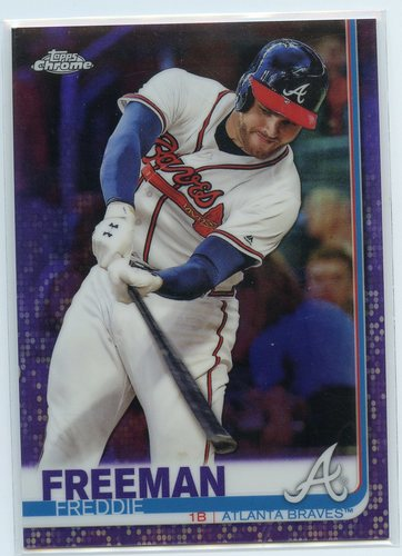 Photo of 2019 Topps Chrome Purple Refractors #87 Freddie Freeman 042/299