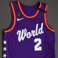 Shai Gilgeous-Alexander - 2020 NBA Rising Stars - Team World - Game-Worn 1st Half Jersey