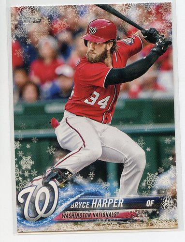 Photo of 2018 Topps Walmart Holiday Snowflake Metallic #HMW1 Bryce Harper