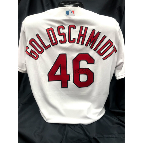Photo of Paul Goldschmidt Autographed Team Issued Home Jersey (Size 50)
