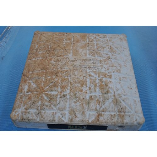 Photo of Game-Used First Base - 2020 ALCS - Houston Astros vs. Tampa Bay Rays - Game 1 - Used Innings 1-5