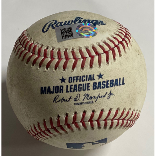 Photo of Game-Used Baseball - ALWC 2020 - Yankees at Indians - Gary Sanchez Home Run