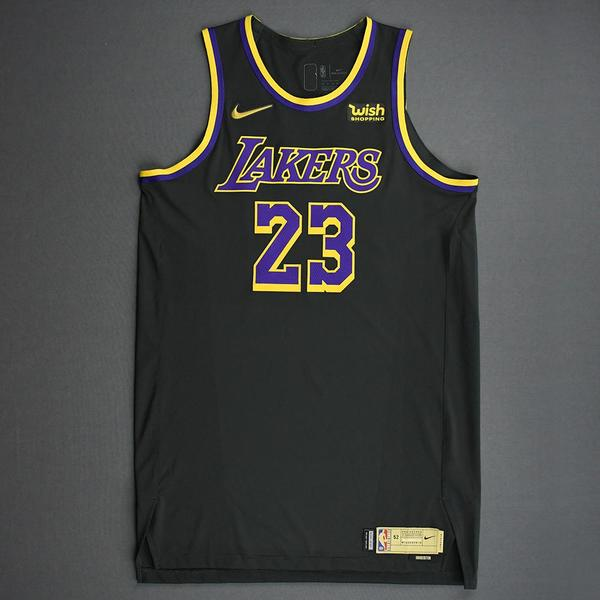 Image of LeBron James - Los Angeles Lakers- Game-Worn Earned Edition Jersey - Recorded a Double-Double - 2020-21 NBA Season