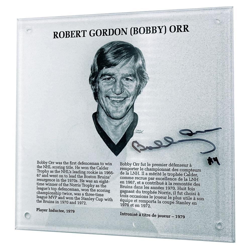 Bobby Orr Autographed NHL Legends HOF Plaque