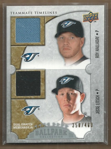 Photo of 2009 Upper Deck Ballpark Collection #175 Jesse Litsch/Roy Halladay/400