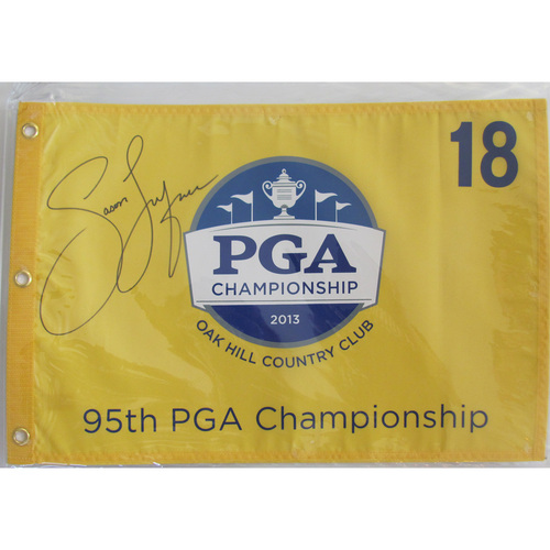 UMPS CARE AUCTION: Jason Dufner Signed Pin Flag from 2013 PGA Championship