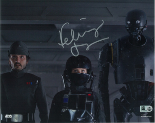 Felicity Jones as Jyn Erso 8x10 Autographed in Silver Ink Photo