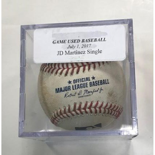 Photo of Game-Used Baseball: JD Martinez Single & Miguel Cabrera Foul Ball