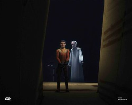 Ezra Bridger and Emperor Palpatine