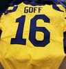 California Fire Relief - RAMS Jared Goff Game Worn Jersey - MNF 11/19/18