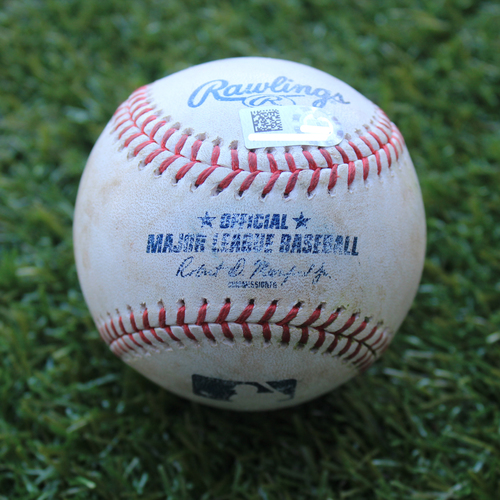 Game-Used Baseball: Sandy Leon 50th Career Double (BOS @ KC - 6/5/19)