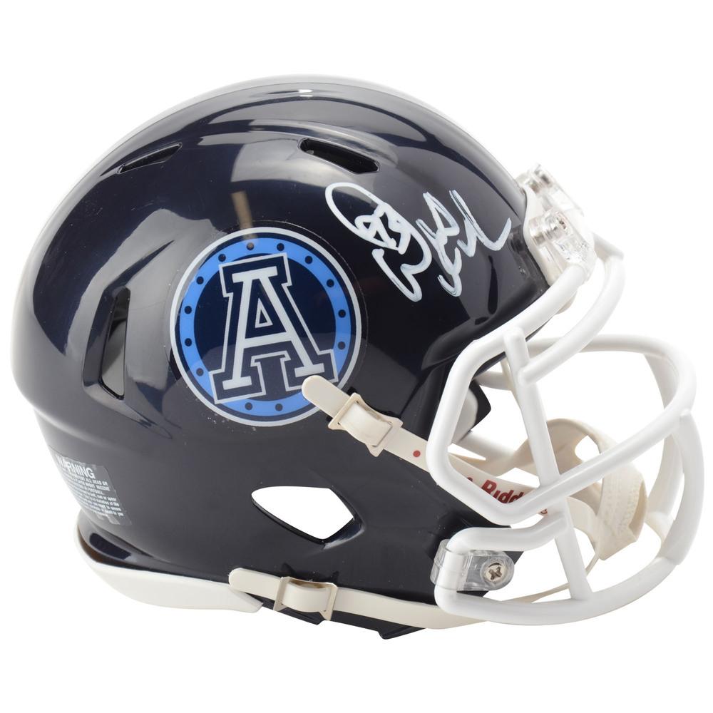 Doug Gilmour Toronto Maple Leafs Autographed Toronto Argonauts CFL Mini Helmet