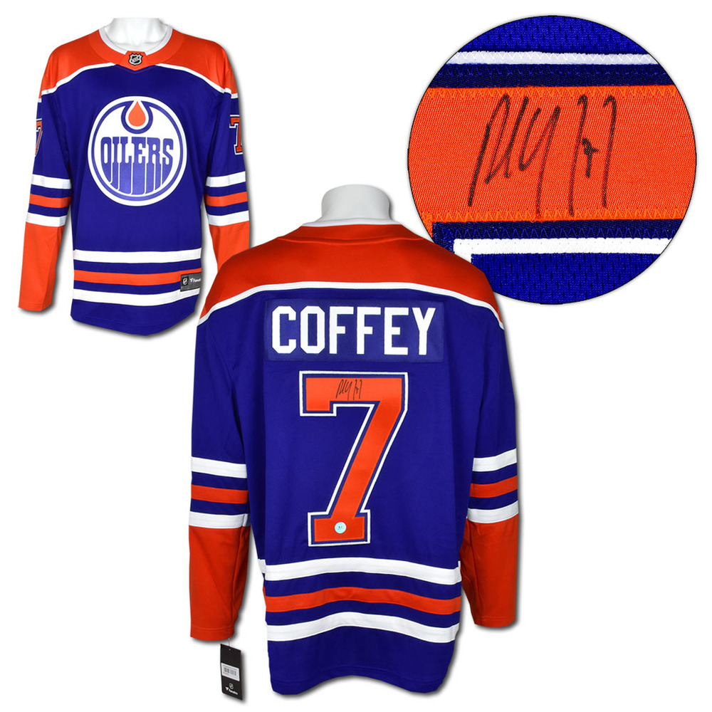 Paul Coffey Edmonton Oilers Autographed Fanatics Alternate Hockey Jersey