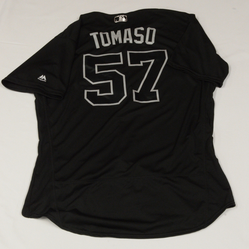 "Photo of Tommy ""TOMASO"" Milone Seattle Mariners Game-Used 2019 Players' Weekend Jersey"