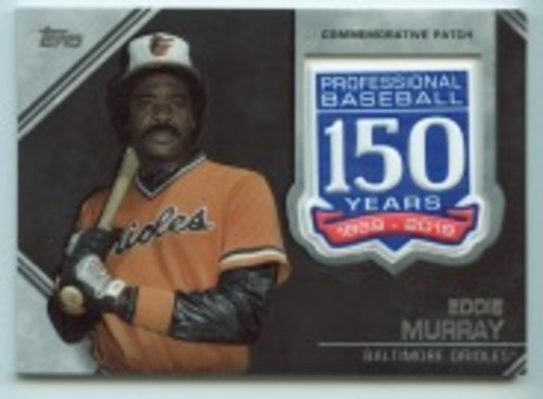Photo of 2019 Topps Update 150th Anniversary Manufactured Patches #AMPEMU Eddie Murray