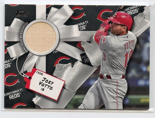 Photo of 2019 Topps Walmart Holiday Relics #WHRJVO Joey Votto