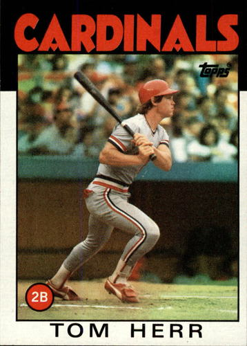 Photo of 1986 Topps #550 Tom Herr