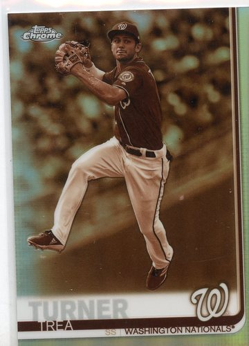 Photo of 2019 Topps Chrome Sepia Refractors #175 Trea Turner